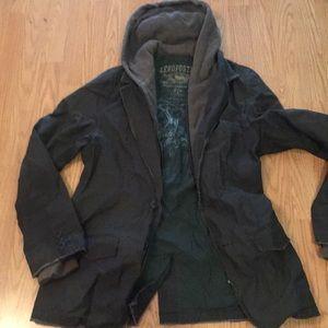 Jacket Aeropostale size small with hoddie